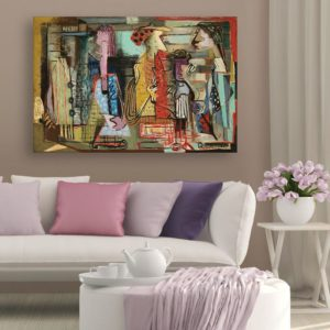 Canvas Painting – Modern Contemporary Society Art Wall Painting for Living Room, Bedroom, Office, Hotels, Drawing Room (91cm X 61cm)