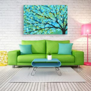 Canvas Painting – Beautiful Tree Art Modern Wall Painting for Living Room, Bedroom, Office, Hotels, Drawing Room (91cm X 61cm)