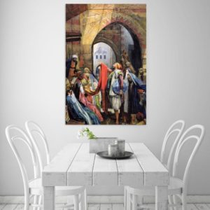 Canvas Painting – Beautiful Bazaar Of Baghdad Art Modern Wall Painting for Living Room, Bedroom, Office, Hotels, Drawing Room (91cm X 61cm)