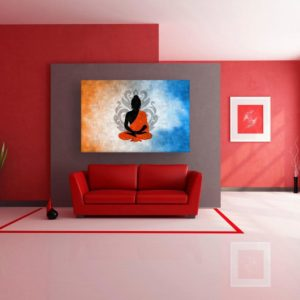 Canvas Painting – Beautiful Buddha Art Modern Wall Painting for Living Room, Bedroom, Office, Hotels, Drawing Room (91cm X 61cm)