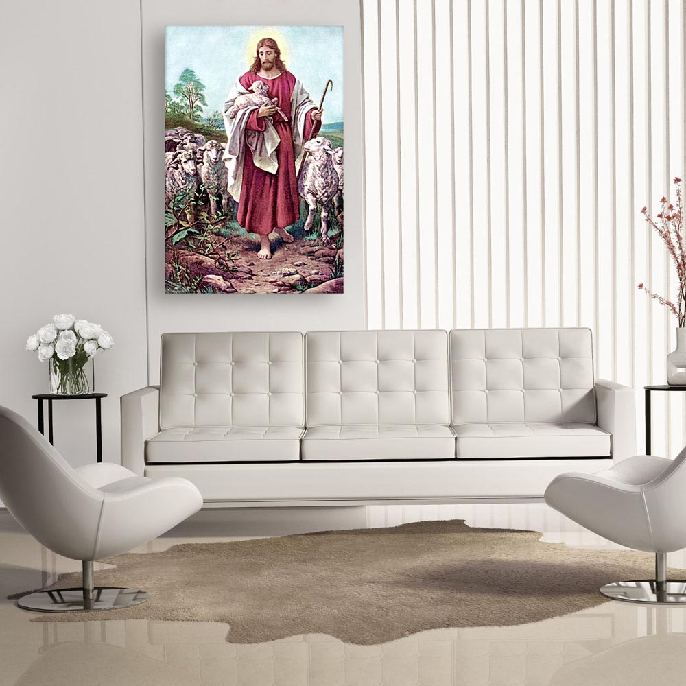 Canvas Painting - Beautiful Jesus Art Wall Painting for Living Room ...
