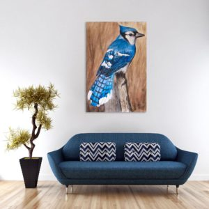 Canvas Painting – Beautiful Bird Art Wall Painting for Living Room, Bedroom, Office, Hotels, Drawing Room (91cm X 61cm)