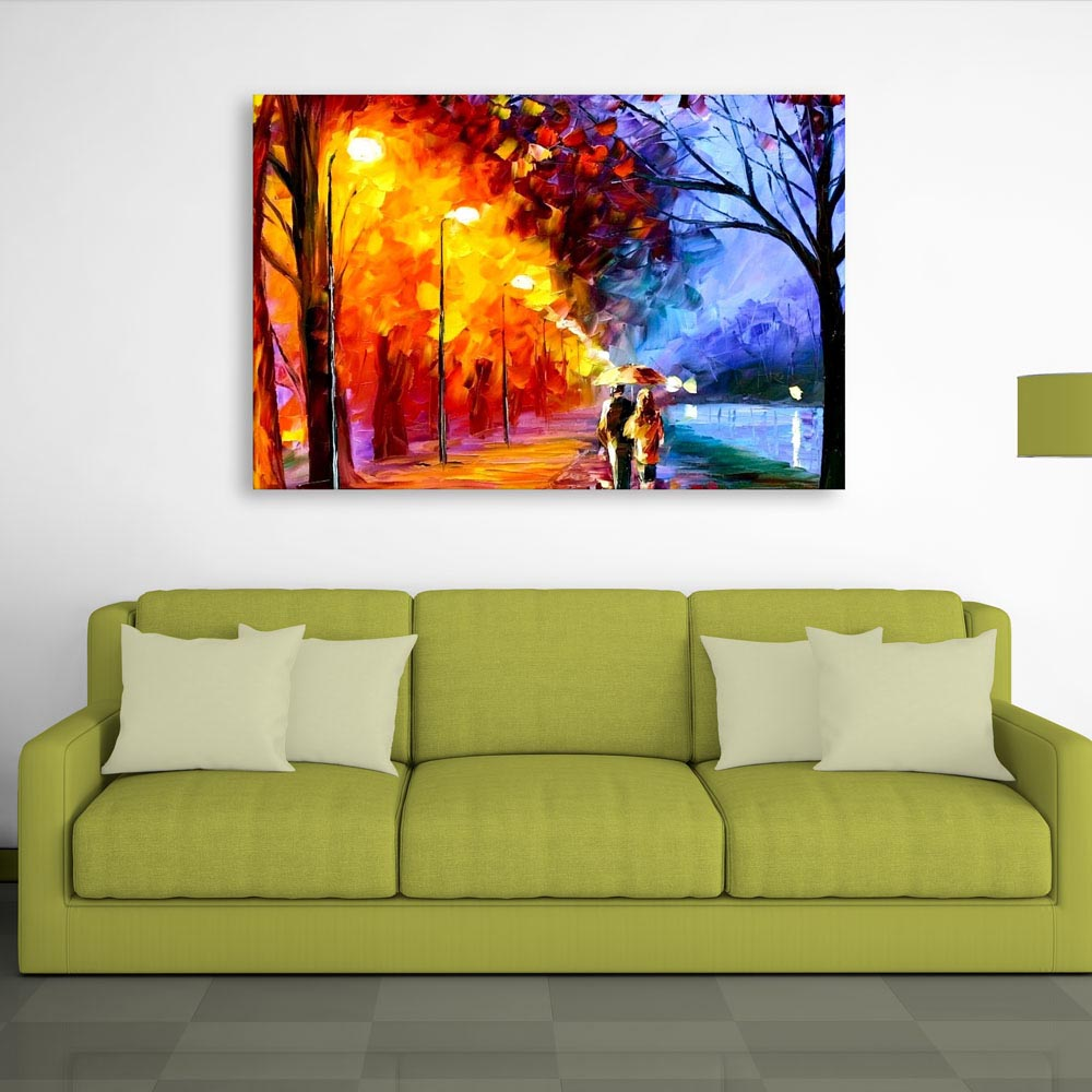 Canvas Painting - By The Lake Art Wall Painting for Living Room ...