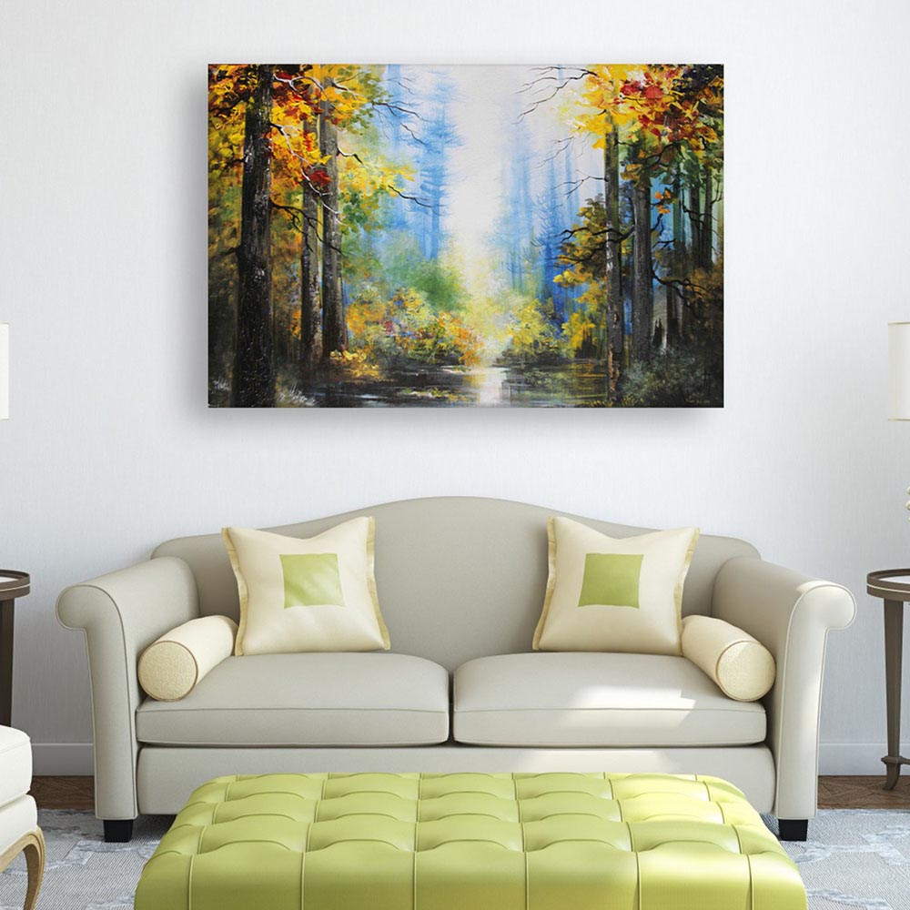 Canvas Painting - Beautiful Nature Art Wall Painting for Living Room ...