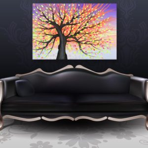 Canvas Painting – Beautiful Tree Nature Art Wall Painting for Living Room, Bedroom, Office, Hotels, Drawing Room (91cm X 61cm)