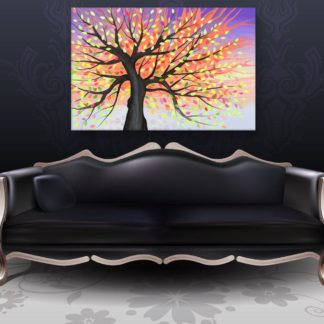 Canvas Painting - Beautiful Tree Nature Art Wall Painting for Living Room