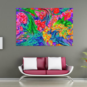 Canvas Painting – Abstract Modern Floral Art Wall Painting for Living Room, Bedroom, Office, Hotels, Drawing Room (91cm X 61cm)