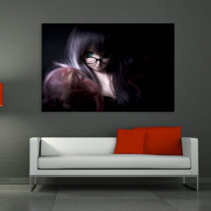 Canvas Painting – Beautiful Girl Art Wall Painting for Living Room, Bedroom, Office, Hotels, Drawing Room (91cm X 61cm)
