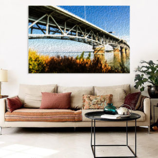 Canvas Painting - Beautiful Bridge Architecture Art Wall Painting for Living Room