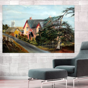 Canvas Painting – Beautiful Town Art Wall Painting for Living Room, Bedroom, Office, Hotels, Drawing Room (91cm X 61cm)