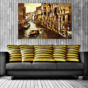 Canvas Painting – Beautiful Venice Italy Art Art Wall Painting for Living Room, Bedroom, Office, Hotels, Drawing Room (91cm X 61cm)