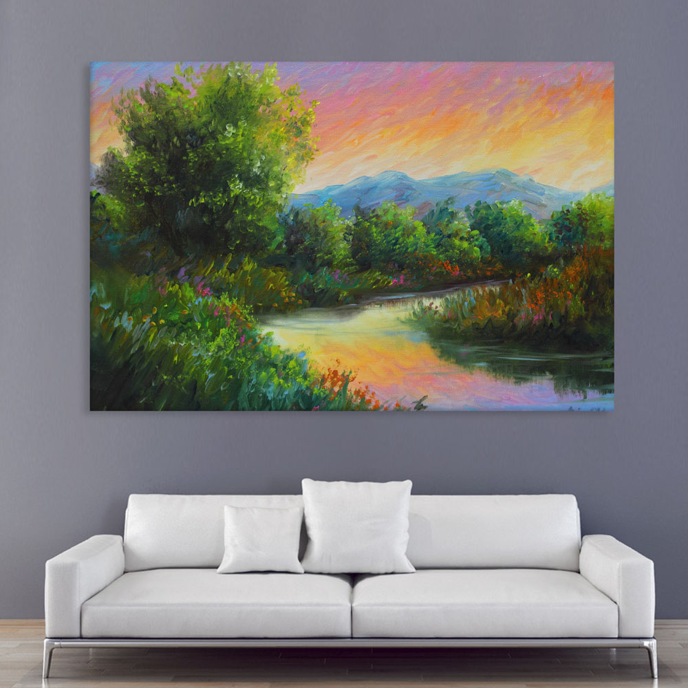 30d83212c Canvas Painting - Beautiful Nature Art Wall Painting for Living Room ...