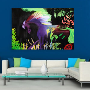 Canvas Painting – Beautiful Nature Illustration Art Wall Painting for Living Room, Bedroom, Office, Hotels, Drawing Room (91cm X 61cm)