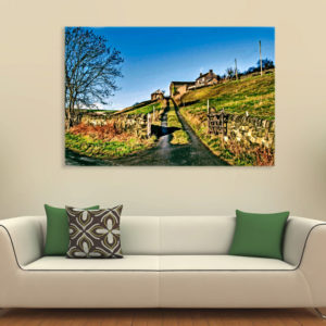 Canvas Painting – Beautiful Farm Scene Art Wall Painting for Living Room, Bedroom, Office, Hotels, Drawing Room (91cm X 61cm)