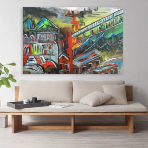 Canvas Painting – Beautiful City Art Wall Painting for Living Room, Bedroom, Office, Hotels, Drawing Room (91cm X 61cm)