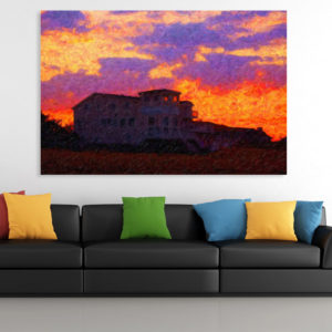 Canvas Painting – Beautiful Sunrise Illustration Art Wall Painting for Living Room, Bedroom, Office, Hotels, Drawing Room (91cm X 61cm)