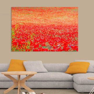 Canvas Painting - Beautiful Flower Field Art Wall Painting for Living Room