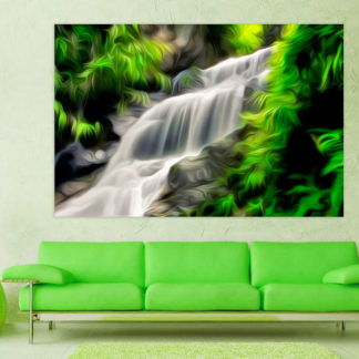 Canvas Painting - Beautiful Nature Waterfalls Art Wall Painting for Living Room