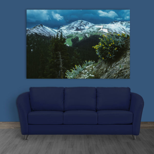 Canvas Painting - Beautiful Mountains Nature Art Wall Painting for Living Room