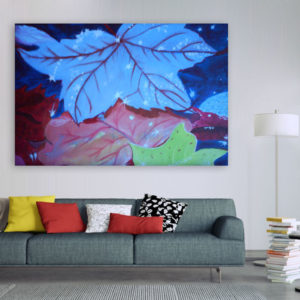 Canvas Painting – Beautiful Leaf Illustration Art Wall Painting for Living Room, Bedroom, Office, Hotels, Drawing Room (91cm X 61cm)