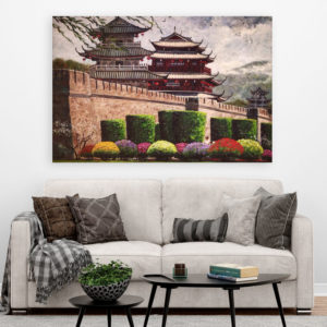 Canvas Painting – Beautiful Buddhist Monastery Art Wall Painting for Living Room, Bedroom, Office, Hotels, Drawing Room (91cm X 61cm)