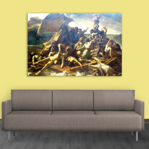 Canvas Painting – The Raft Of The Medusa Art Wall Painting for Living Room, Bedroom, Office, Hotels, Drawing Room (91cm X 61cm)