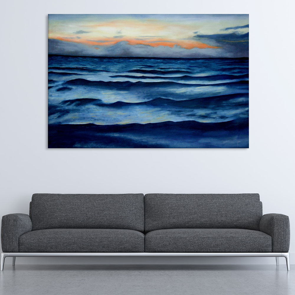 Canvas Painting Beautiful Ocean Waves Nature Art Wall Painting For Living Room Bedroom Office Hotels Drawing Room 91cm X 61cm