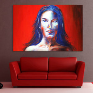 Canvas Painting – Beautiful Lady Art Wall Painting for Living Room, Bedroom, Office, Hotels, Drawing Room (91cm X 61cm)