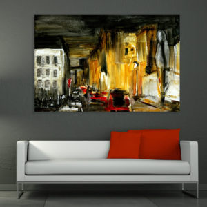 Canvas Painting – Place d'Italie France Art Wall Painting for Living Room, Bedroom, Office, Hotels, Drawing Room (91cm X 61cm)