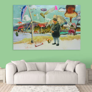 Canvas Painting – Beautiful Market Art Wall Painting for Living Room, Bedroom, Office, Hotels, Drawing Room (91cm X 61cm)