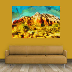 Canvas Painting – Beautiful Mountain Nature Art Wall Painting for Living Room, Bedroom, Office, Hotels, Drawing Room (91cm X 61cm)