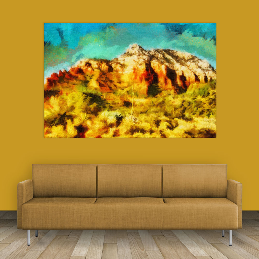 Canvas Painting Beautiful Mountain Nature Art Wall Painting For Living Room Bedroom Office Hotels Drawing Room 91cm X 61cm