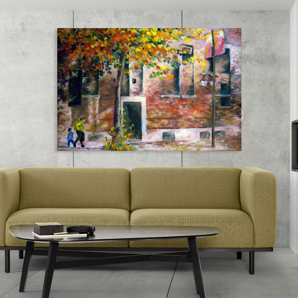 Canvas Painting Beautiful Autumn Art Wall Painting For Living Room Bedroom Office Hotels Drawing Room 91cm X 61cm