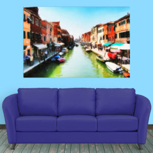 Canvas Painting – Beautiful Venice Italy Art Wall Painting for Living Room, Bedroom, Office, Hotels, Drawing Room (91cm X 61cm)