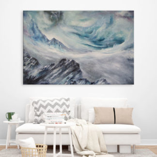 Canvas Painting - Beautiful Skyscapes Art Wall Painting for Living Room