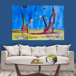Canvas Painting - Beautiful Modern Art Wall Painting for Living Room