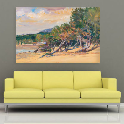 Canvas Painting - Beautiful Beach  Art Wall Painting for Living Room