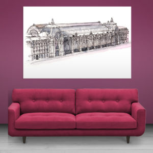 Canvas Painting – Musee d'Orsay Museum Paris Illustration Art Wall Painting for Living Room, Bedroom, Office, Hotels, Drawing Room (91cm X 61cm)