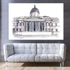 Canvas Painting – National Gallery London Illustration Art Wall Painting for Living Room, Bedroom, Office, Hotels, Drawing Room (91cm X 61cm)