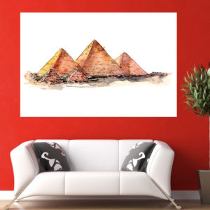 Canvas Painting – Piramids of Giza Illustration Art Wall Painting for Living Room, Bedroom, Office, Hotels, Drawing Room (91cm X 61cm)