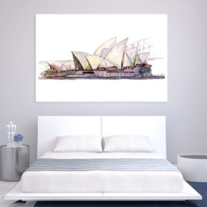 Canvas Painting – Sydney Opera House Australia Art Wall Painting for Living Room, Bedroom, Office, Hotels, Drawing Room (91cm X 61cm)