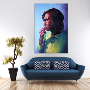 Canvas Painting – Beautiful Self Portrait Art Wall Painting for Living Room, Bedroom, Office, Hotels, Drawing Room (61cm X 91cm)