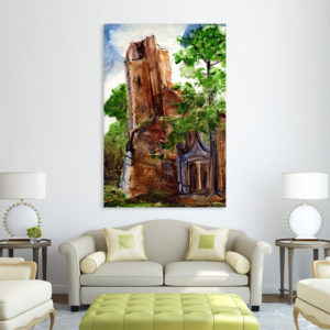 Canvas Painting – Beautiful Church  Art Wall Painting for Living Room, Bedroom, Office, Hotels, Drawing Room (61cm X 91cm)