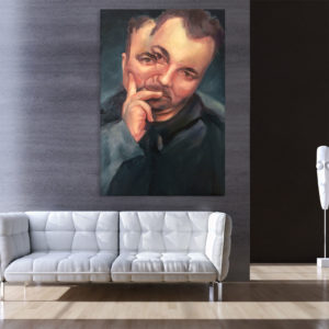 Canvas Painting – Two Faced Person Illustration Art Wall Painting for Living Room, Bedroom, Office, Hotels, Drawing Room (61cm X 91cm)