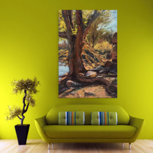Canvas Painting – Beautiful Tree Art Wall Painting for Living Room, Bedroom, Office, Hotels, Drawing Room (61cm X 91cm)