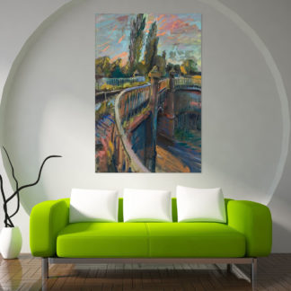 Canvas Painting - Beautiful Birmingham Canals Art Wall Painting for Living Room