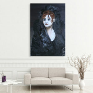 Canvas Painting – Beautiful Lady Self Portrait Art Wall Painting for Living Room, Bedroom, Office, Hotels, Drawing Room (61cm X 91cm)