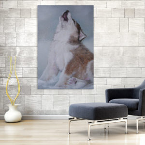 Canvas Painting – Beautiful Wolf Howling Art Wall Painting for Living Room, Bedroom, Office, Hotels, Drawing Room (61cm X 91cm)