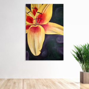 Canvas Painting – Beautiful Flower Floral Art Wall Painting for Living Room, Bedroom, Office, Hotels, Drawing Room (61cm X 91cm)