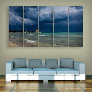 Multiple Frames Beautiful Beach Wall Painting for Living Room, Bedroom, Office, Hotels, Drawing Room (150cm x 76cm)
